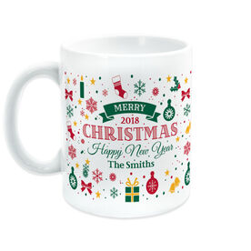 Personalized Coffee Mug - Christmas And New Year Sign