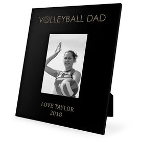 Volleyball Engraved Picture Frame - Volleyball Dad