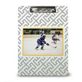Hockey Custom Clipboard Hockey Your Photo Pattern