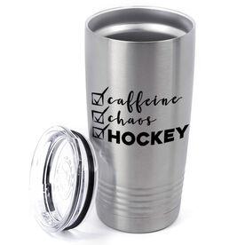 Hockey 20oz. Double Insulated Tumbler - Caffeine, Chaos and Hockey