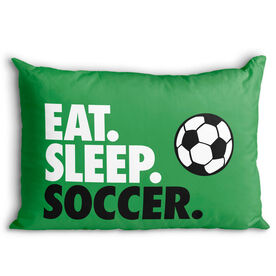 Soccer Pillowcase - Eat. Sleep. Soccer.
