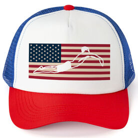 Swimming Trucker Hat - American Swimmer (Guy)