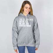 Hockey Hooded Sweatshirt - The Cold Never Bothered Me Anyway #HockeyMom
