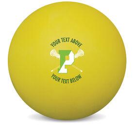 Lacrosse Ball - Personalized Pentucket Youth Girls Lacrosse Logo (Yellow)