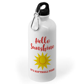Softball 20 oz. Stainless Steel Water Bottle - Hello Sunshine Its Softball Time
