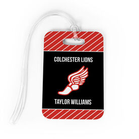 Track and Field Bag/Luggage Tag - Personalized Track Team with Winged Foot