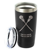 Guys Lacrosse 20 oz. Double Insulated Tumbler - Crossed Sticks Icon