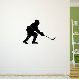 Hockey Player Skating Removable ChalkTalkGraphix Wall Decal