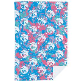 Cheerleading Premium Blanket - Floral Pom Poms