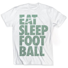 Vintage Football T-Shirt - Eat Sleep Football