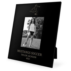 Soccer Engraved Picture Frame - Girl Player