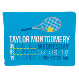 Tennis Baby Blanket - Birth Announcement