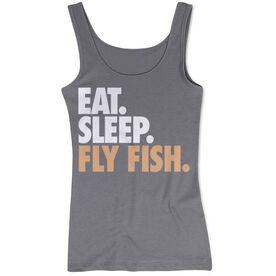 Fly Fishing Women's Athletic Tank Top Eat. Sleep. Fly Fish.
