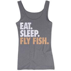 Fly Fishing Women's Athletic Tank Top Eat. Sleep. Fly Fish.