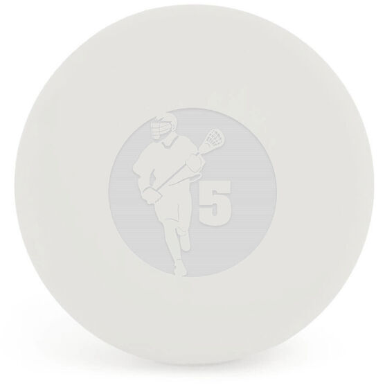 Personalized Engraved Lacrosse Ball Guy Player Cutout (White Ball)