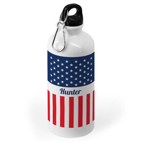 Personalized 20 oz. Stainless Steel Water Bottle - Flag For You