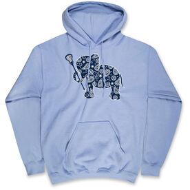 Girls Lacrosse Hooded Sweatshirt - Lax Elephant