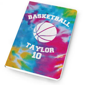 Basketball Notebook Tie Dye Pattern with Basketball