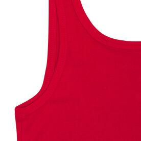 Women's Athletic Tank Top Santa Run Face