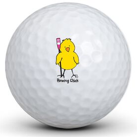 Rowing Chick Golf Balls