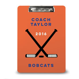 Hockey Custom Clipboard Coach with Hockey Sticks