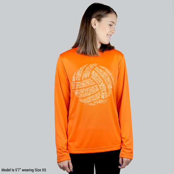 Volleyball Long Sleeve Performance Tee - Volleyball Words