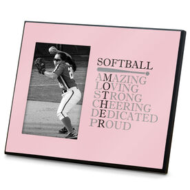 Softball Photo Frame - Mother Words