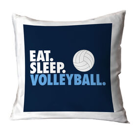 Volleyball Decorative Pillow - Eat Sleep Volleyball