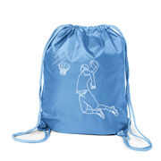 Basketball Sport Pack Cinch Sack - Basketball Player Sketch