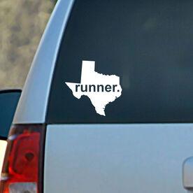 Texas State Vinyl RUNNERDecal