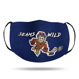 Seams Wild Hockey Face Mask - Feather Shot