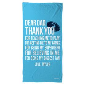 Rugby Beach Towel Dear Dad