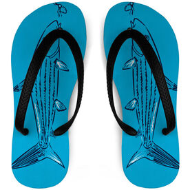 Fly Fishing Flip Flops Bonefish and Fly