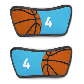Basketball Repwell™ Sandal Straps - Ball and Number Reflected