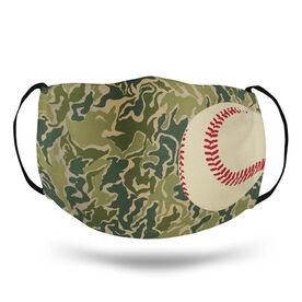 Baseball Face Mask - Hunter Camo Baseball