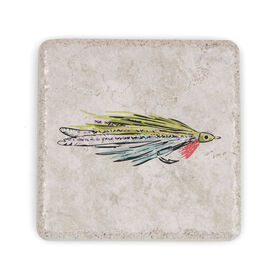 Fly Fishing Stone Coaster - Deceiver