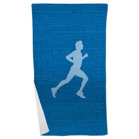 Running Beach Towel Inspiration Male