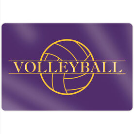 "Volleyball 18"" X 12"" Aluminum Room Sign - Crest"