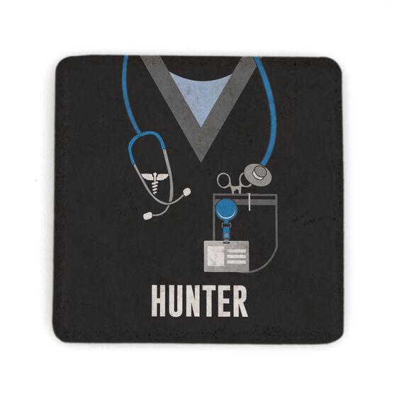 Personalized Stone Coaster - Nurse Scrubs