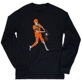 Baseball T-Shirt Long Sleeve - Home Run Zombie