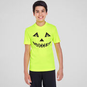 Soccer Short Sleeve Performance Tee - Soccer Pumpkin Face
