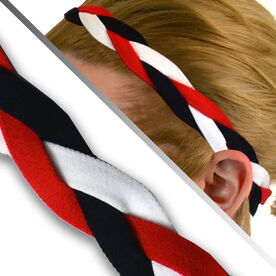 GripBand Headband - Black Red White