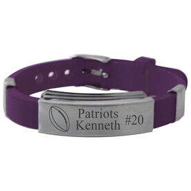 Personalized Football Silicone Bracelet