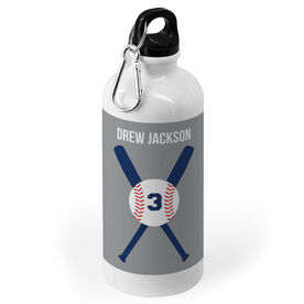 Baseball 20 oz. Stainless Steel Water Bottle - Personalized Baseball With Bats