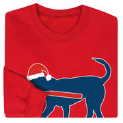 Baseball Crew Neck Sweatshirt - Christmas Baseball Dog