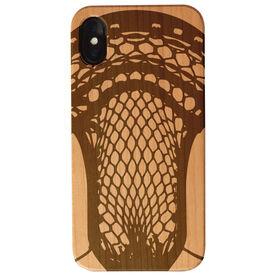 Guys Lacrosse Engraved Wood IPhone® Case - Lacrosse Guys Stick