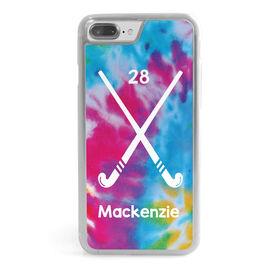 Field Hockey iPhone® Case - Personalized Tie Dye Pattern with Sticks