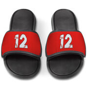 Baseball Repwell® Slide Sandals - Baseball Number Stitches