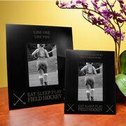 Field Hockey Engraved Picture Frame - Eat Sleep Play Field Hockey