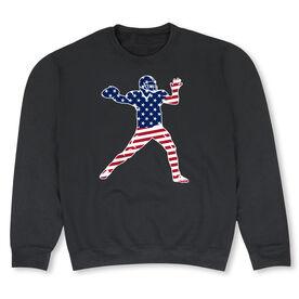 Football Crew Neck Sweatshirt - Football Stars and Stripes Player